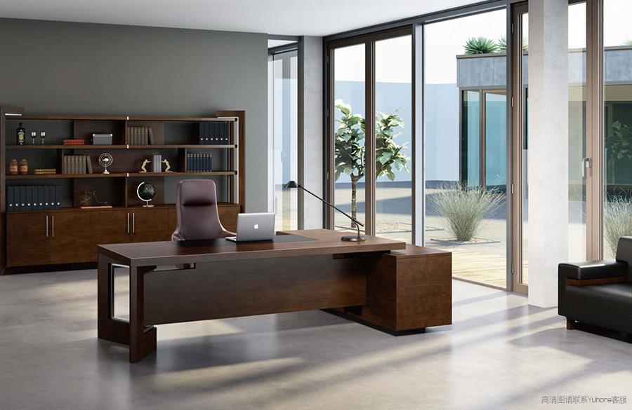 此办公桌别名为:老板办公桌,老板班台,实木班台,中式班台,老板柜,总经理办公桌